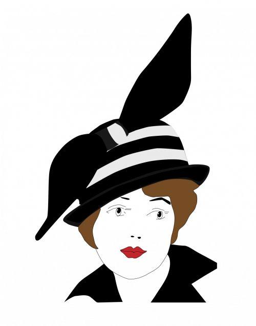 Woman Hat 1920s Vintage