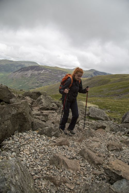 Woman Hiker With Backpack