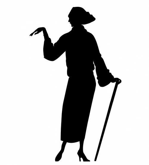 Woman Silhouette Clipart 1920s