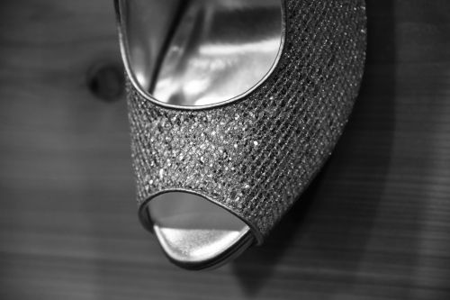 Woman's Silver Rhinestone Shoe