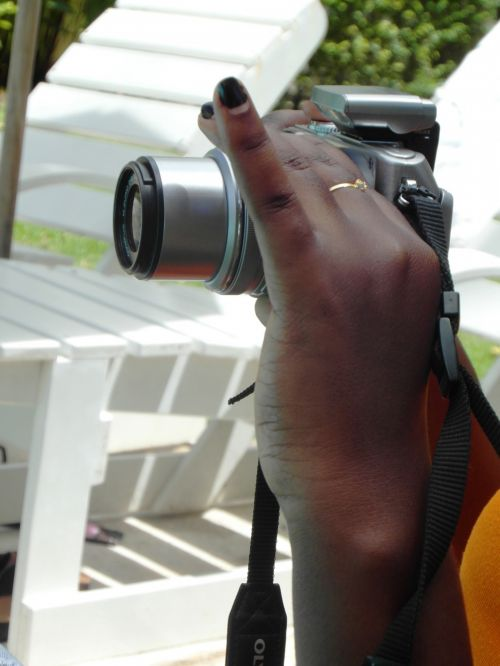 Woman Taking Photographs