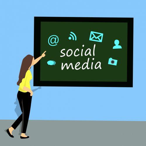 Woman Teaching Social Media Course
