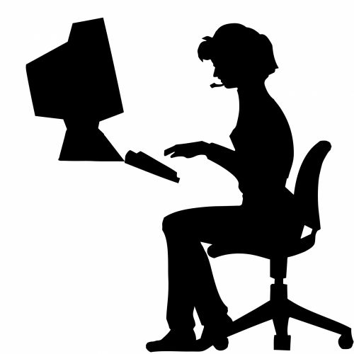 Woman Typing Office Computer