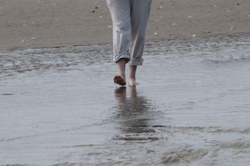 Woman Wading Through Water