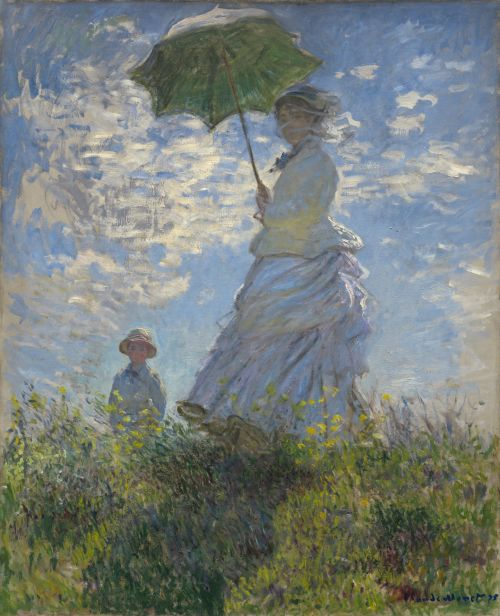 Woman With A Parasol - Madame Monet