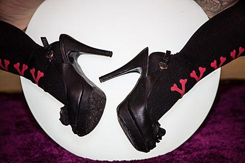 woman's shoe femininity tights