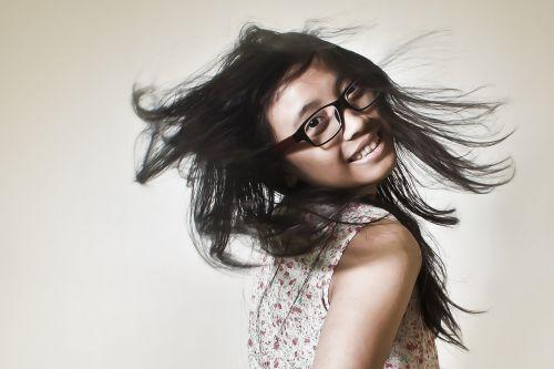 women girl hair
