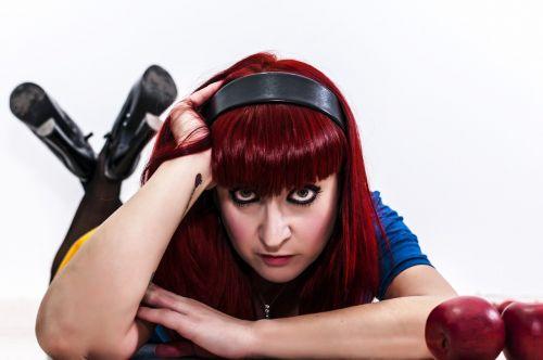 women redhead headband