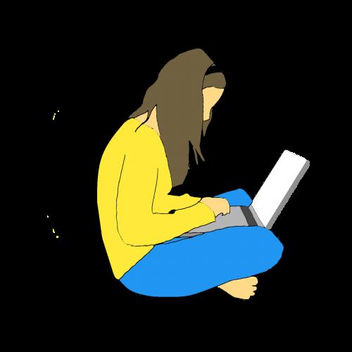 women laptop people
