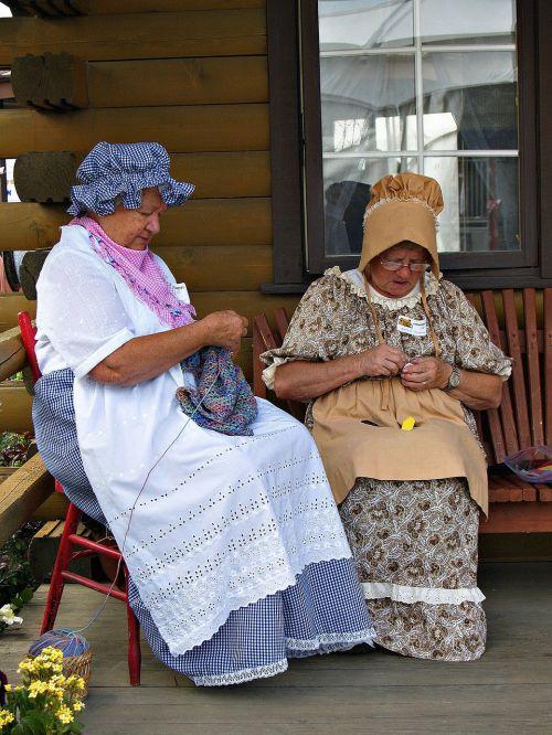 women knitting costume
