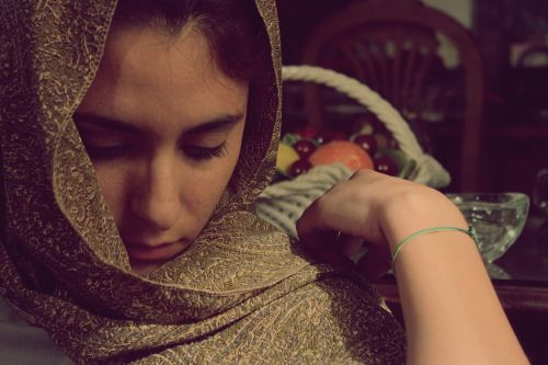 women veil lady