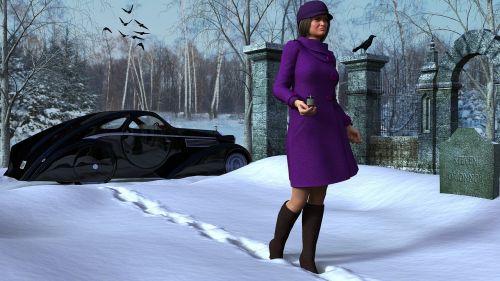 women winter widow