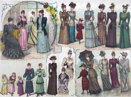 moterys, moteris, mada, 1891, moterys, moterys, vaikai, mergaitės, jaunas, drabužiai, apranga, madinga, vintage, menas, iliustracija, plakatas, spausdinti, kortelė, Scrapbooking, spalvinga, šviesus, Laisvas, viešasis & nbsp, domenas, moterų mados iliustracija