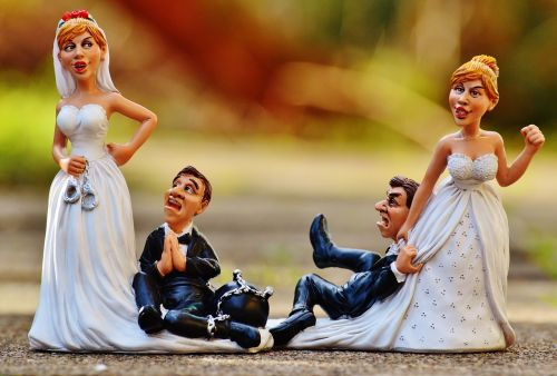 women's power funny bride and groom