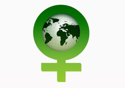 women's power female globe