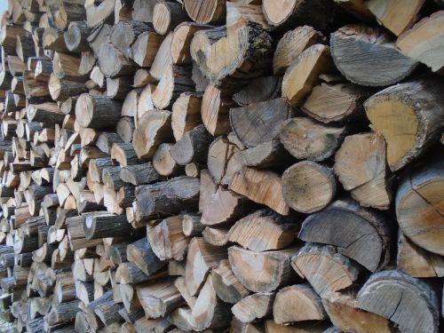 wood woodpile fuel