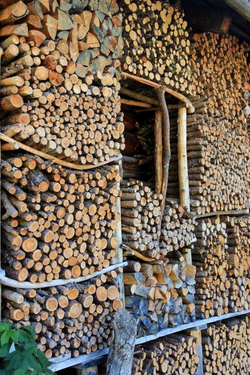 wood firewood stack