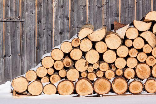 wood firewood barn