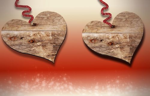 wood heart love
