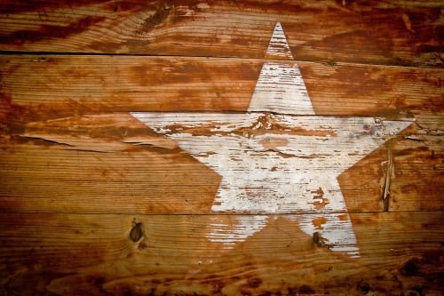 wood grain star