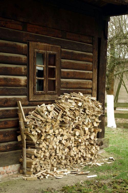 wood fuel old cottage