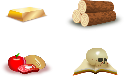 wood trunks gold bar