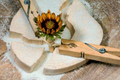 wood clothespins flower