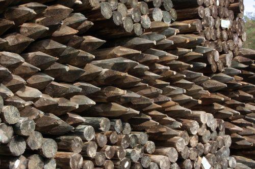 wood timberyard fence posts
