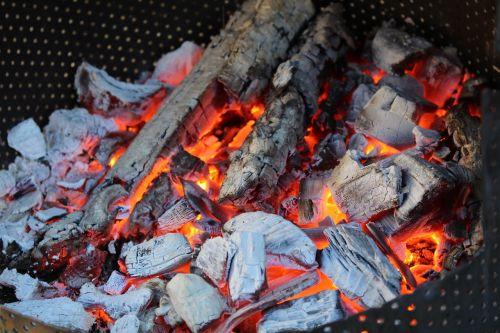 wood embers fire