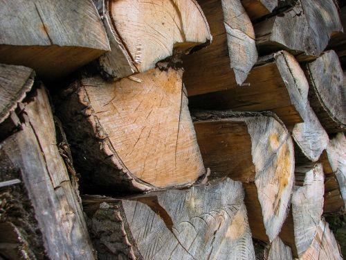 wood logs heating