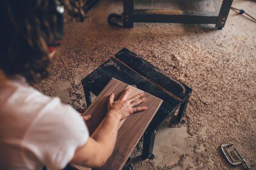 wood sawdust shop