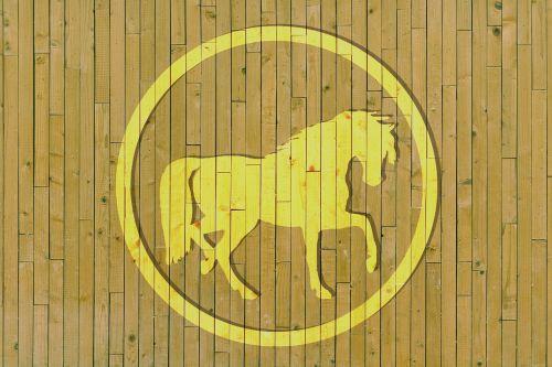 wood horse circle