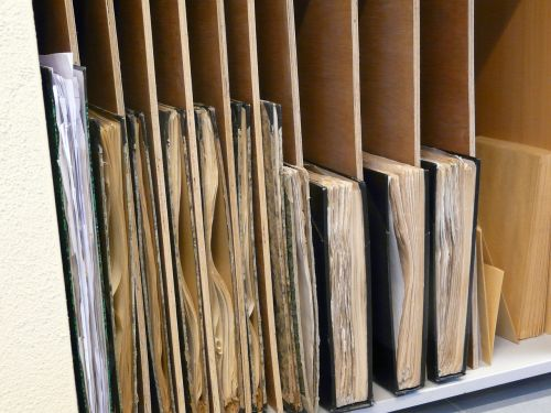wood shelf library
