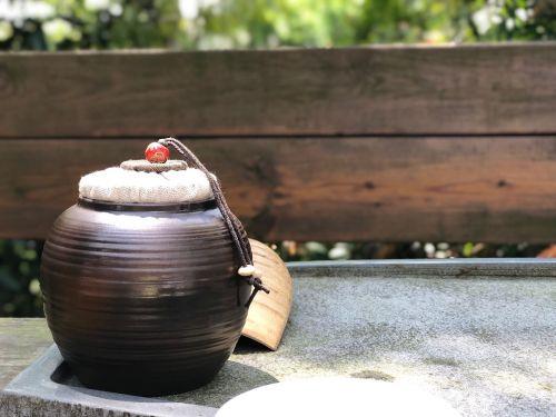 wood wooden pot