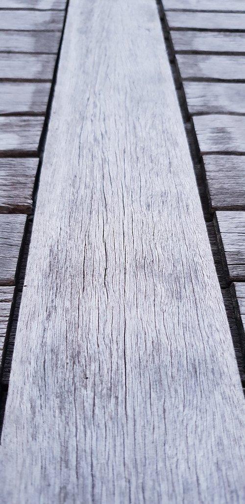 wood  weathered  away