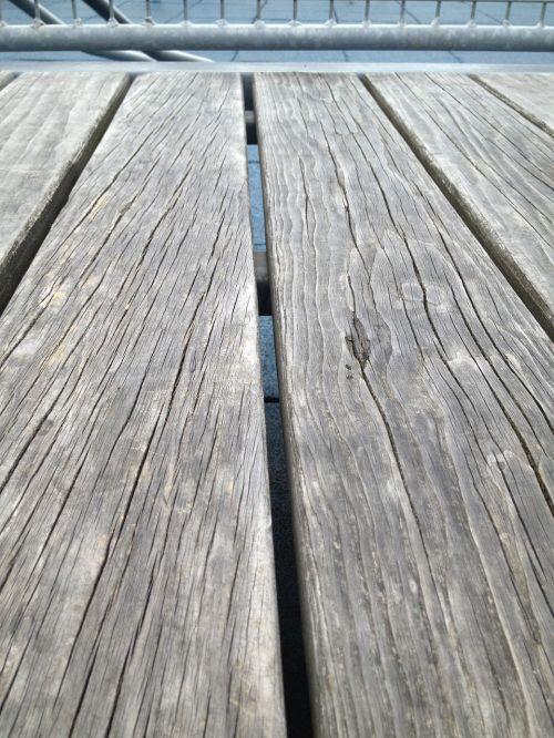 wood planks deck