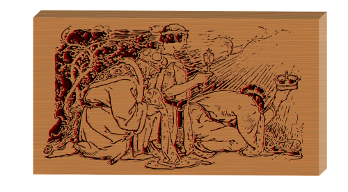 wood carving etching