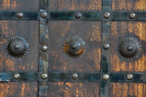 wood metal rusty