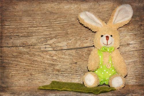 wood fabric bunny easter bunny