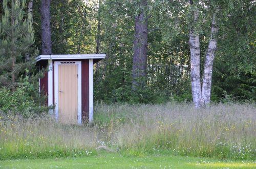 wood toilet sweden