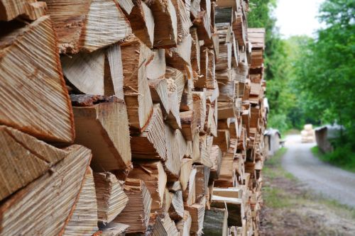 wood timber holzstapel
