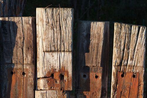 wood railway sleepers fence