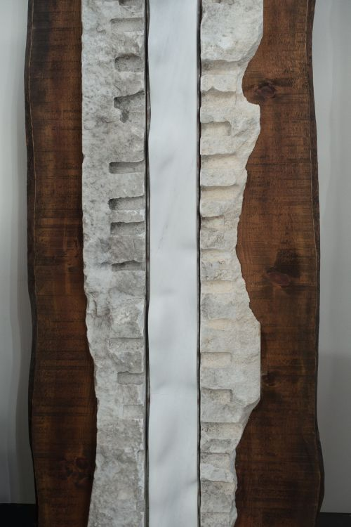 wood marble sculpture