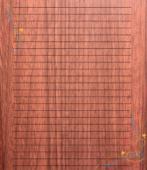 Wood Background Stationery