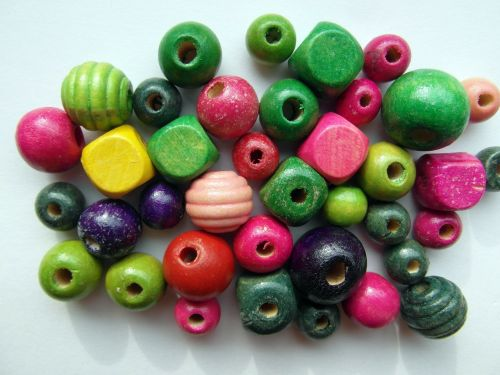 wood beads colorful color
