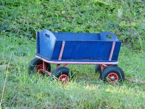 wood car blue wood