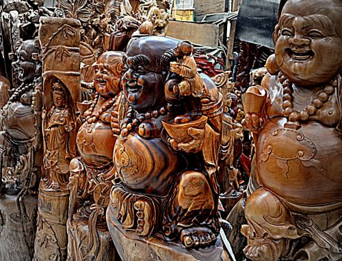 Wood Carved Buddhas