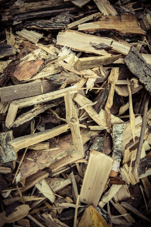 wood chips firewood wood