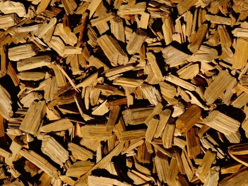 wood chips background wood