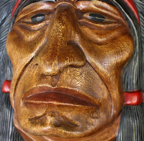 wood face indian wood
